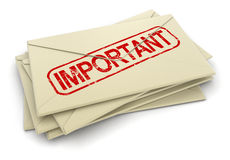 Important letters  (clipping path included) Royalty Free Stock Photos