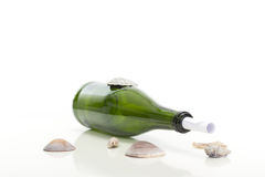 Important message in a bottle Royalty Free Stock Photography