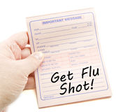 Important Message Get Flu Shot Royalty Free Stock Photography