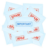 Important message. Vector illustration Stock Image