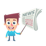 Important news on the front page Royalty Free Stock Images