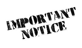 Important Notice rubber stamp Stock Photos