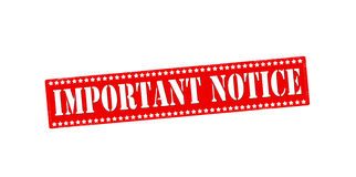 Important notice Stock Images