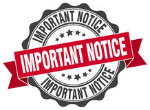 Important notice stamp Stock Photography