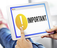 Important Notification Alert Exclamation Point Concept Royalty Free Stock Image