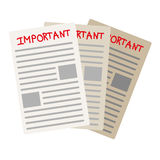Important paper documents - stock  Stock Image