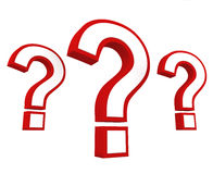 Important question. Concept of 3D questions marks depicting problems, questions, FAQs and Q&A Royalty Free Stock Image