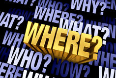 The Important Question Is 'Where?' Stock Image