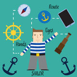 Important and responsible work of the seaman. Royalty Free Stock Photos