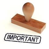 Important Rubber Stamp Shows Critical Information Royalty Free Stock Photography