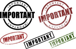 Important Rubber Stamps (Vector) Royalty Free Stock Image