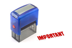 Important stamp Stock Images