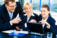 Important teamwork Royalty Free Stock Images