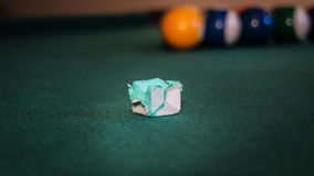 The important thing on pool table Stock Photography