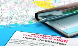 Important travel information Stock Photo