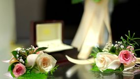 Important Wedding Accessories stock footage