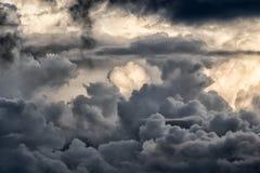 Importante accumulazione della nuvola in Colombia Fotografie Stock