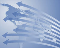 Importação e exportação Foto de Stock