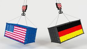 Importation d'USA Tarrifs Photographie stock