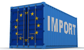 Importations de l'Union européenne illustration stock