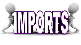 Coupe des importations Image stock