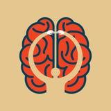 Importe-se a ideia do cérebro - ilustração na cabeça humana Foto de Stock Royalty Free