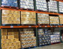 Imported beers selling Stock Images