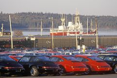 Imported cars in Halifax, Nova Scotia Royalty Free Stock Photo