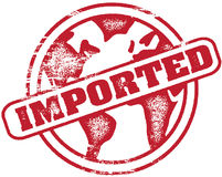 Imported Stamp Royalty Free Stock Photo