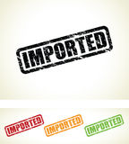 Imported stamps Royalty Free Stock Images