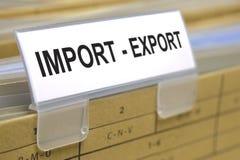 Importexport arkivfoton