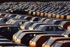 Importierte Autos Stockfoto