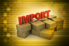 Importing Cargo boxes Stock Photography