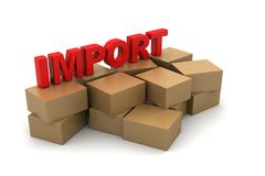 Importing Cargo boxes Royalty Free Stock Image