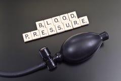 Importância de sua pressão sanguínea Imagens de Stock