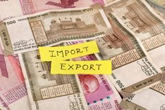Importowy eksport zdjęcie stock