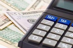 Impôt calculateur Images libres de droits