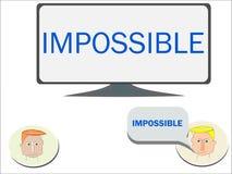 Imposible es lo mismo para decir posible stock de ilustración