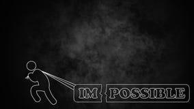 Imposible es posible Imagen de archivo libre de regalías