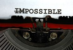 Imposible pero posible escritos Foto de archivo libre de regalías
