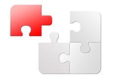 Imposible solucionar rompecabezas de rompecabezas Foto de archivo libre de regalías