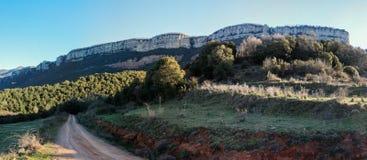 Imposing гора трассы El далеко Стоковые Изображения RF