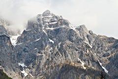 Imposing северная сторона Triglav, Словении Стоковые Фото