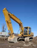Imposing Backhoe Royalty Free Stock Image