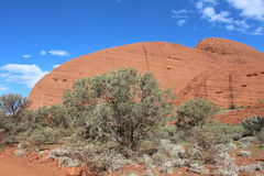 Imposing boulders of the Olgas in Australia Stock Image
