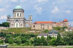 Imposing building of Basilica Esztergom,Hungary Royalty Free Stock Photo