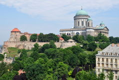 Imposing building of Basilica Esztergom,Hungary Stock Image