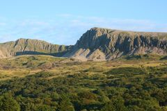 The imposing Cadair Idris Mountain range in Wales Royalty Free Stock Photos