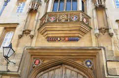Imposing college entrance Royalty Free Stock Images