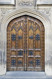 Imposing Doorway. An ornate, imposing door stands closed to the entrance of a cathedral in Prague Royalty Free Stock Photo